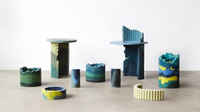 Colorful Industrial Furniture Of Foam Wastes