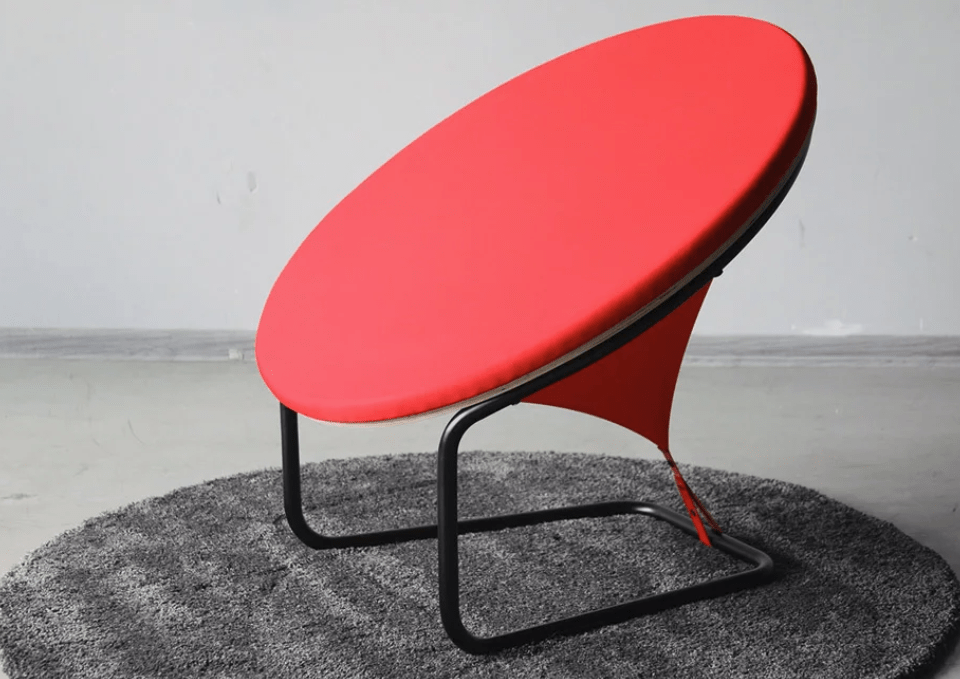This is Red Dot chair called so as it looks flat from the front, as a large red dot