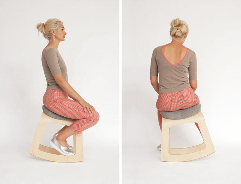 There are two different ways to sit on it, and you may change your position from time to time
