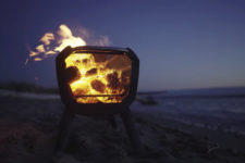 03 Mesh used for design allows watching the fire and foldable legs make it easy to port
