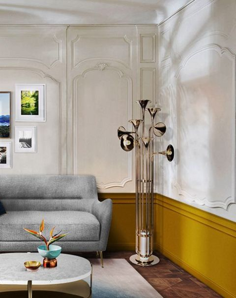 a chic floor lamp inspired by music will add a refined and bold touch to your space