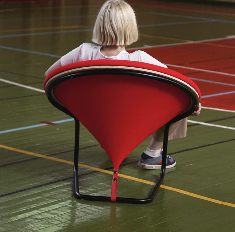 Get your own chair to make a statement with its bold design and bright color