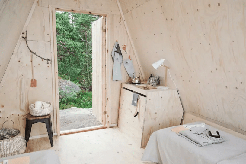 creative plywood storage solution that doesn't occupy lots of space