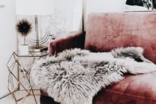 09 just one grey faux fur throw will instantly add luxury to the space