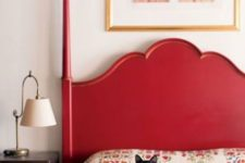 09 paint your bed red and you'll get a colorful touch for bedroom decor for free