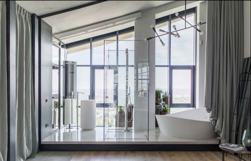 bathroom with gorgeous bathtub