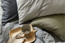 10 a comforting muted-color bedding set is right what you need for relaxation in the fall