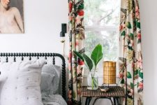 11 bring a refreshing and bold touch with floral print curtains in bright colors