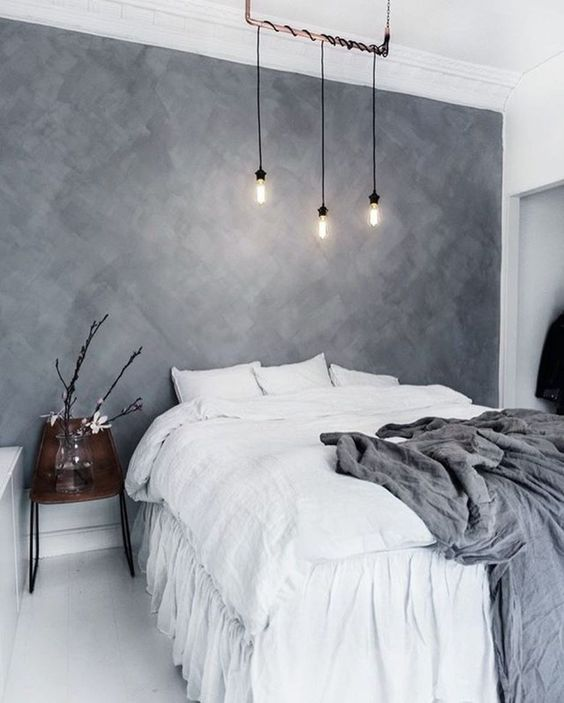 pair grey with some other colors or touches of color, like here grey and white for a fresh look