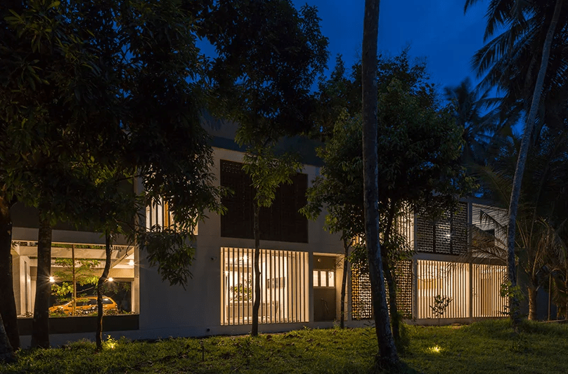 This is how the house looks at night