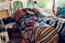 13 a lot of bright printed textiles and some feather dreamcatchers for creating a free-spirited look