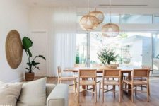 15 wicker touches are a great idea to bring a light rustic touch and tie up the spaces