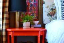 17 a large vintage red nightstand is a great idea to add color and a vintage feel to any space
