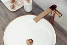 17 make your bathroom more stylish and trendy with copper hardware and fixtures