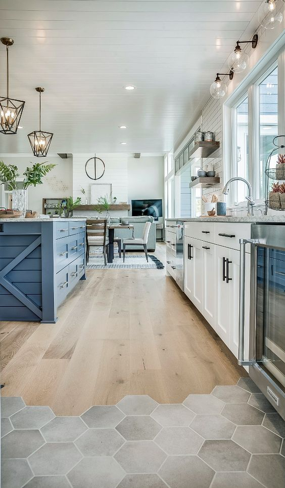 Add Color To Your Space With A Different Kitchen Island Like Here