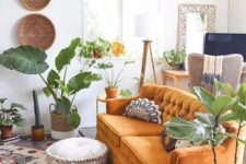 20 lots of potted greenery and boho baskets on the wall plus boho textiles for a free-spirited space