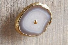21 consider having trendy agate door knobs with a gilded edge
