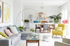 22 an open layout spruced up with rainbow colored touches and details throughout