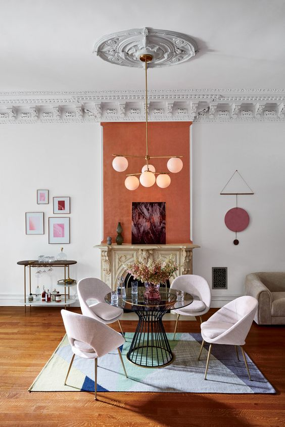 accent the fireplace with coral paint over it, this way you'll highlight it