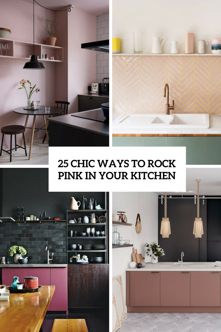chic ways to rock pink in your kitchen cover