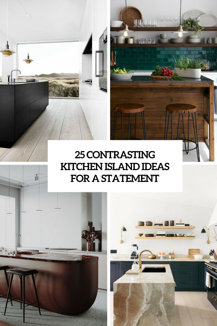 contrasting kitchen island ideas to make a statement cover