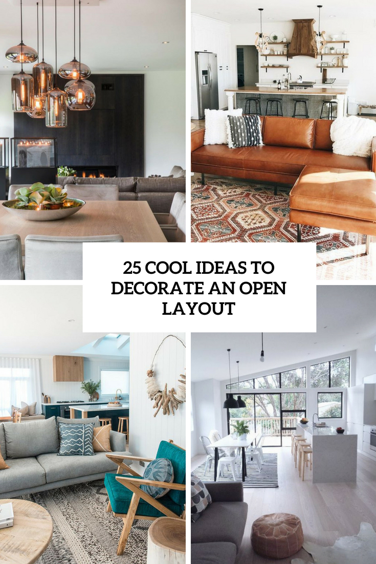 cool ideas to decorate an open layout cover
