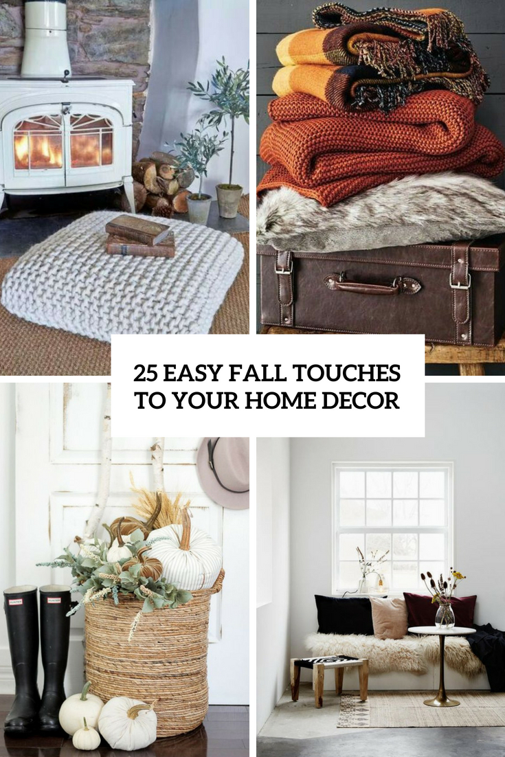 easy fall touches to your home decor cover