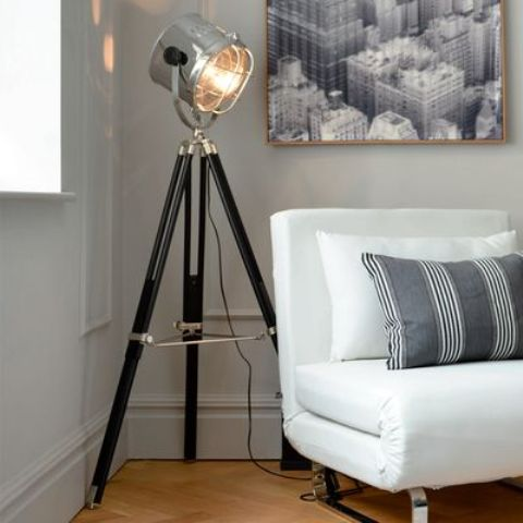a tripod spotlight floor lamp is great for focusing and is amazing for reading