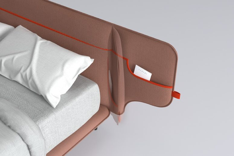 Upholstered Cuddle Bed With Pockets For Storage
