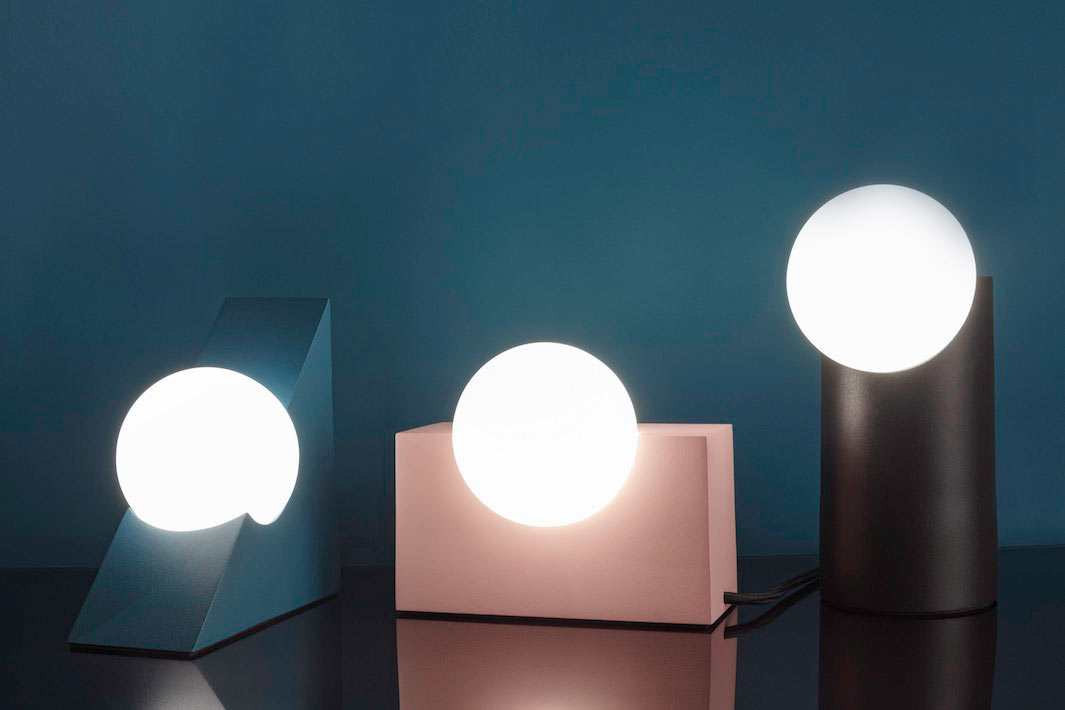 FORM lamps are a fresh take on traditional lamps and lights, these are bold minimalist pieces that accent geometric shapes and lines with their colors