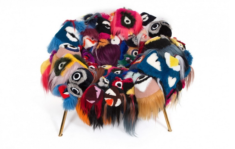 Unique Armchair of Thousand Eyes By Fendi
