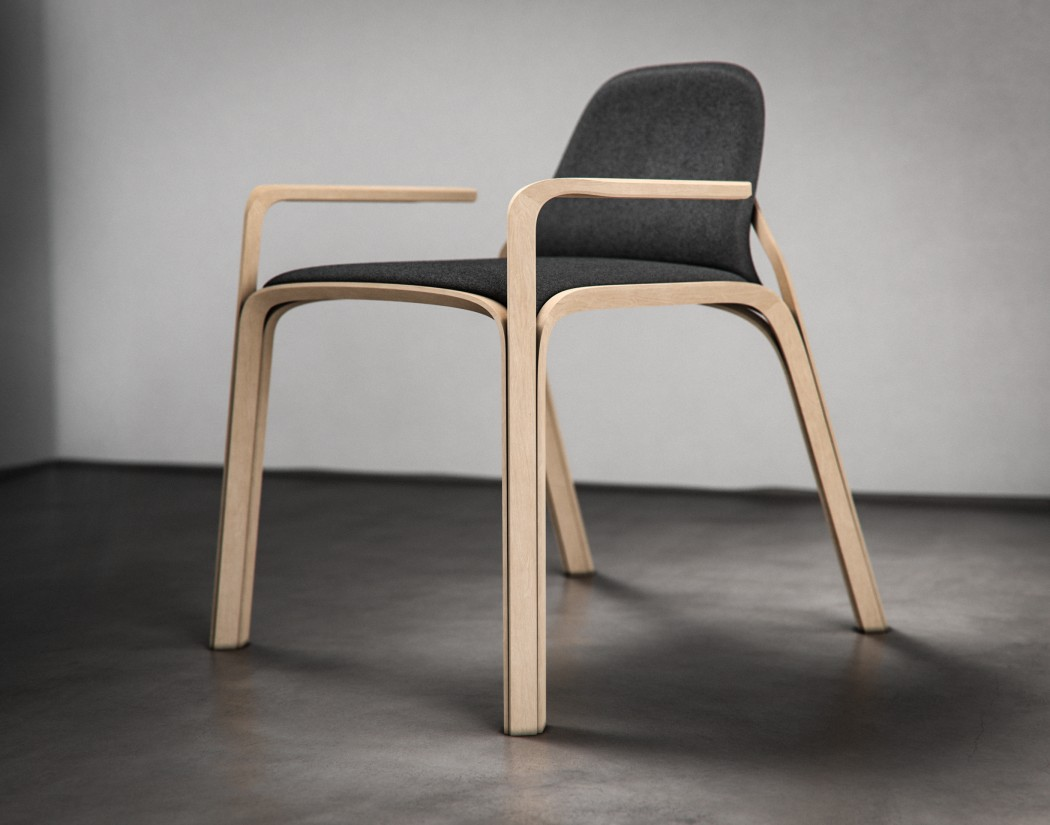 This Scandinavian or Japandi chair is inspired by diamonds and their proportions