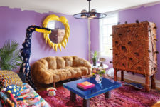 01 This colorful home is pure craziness, full of colors, bold designs, unusual furniture and accessories