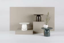 01 This side table collection is called Yang Ban and is inspired by traditional Korean hats and accessories