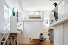 01 This ultra-minimalist home in Japan features interesting splitting into levels and sublevels with inner balconies