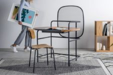 01 This ultra-modern desk is a whole workstation, with a hidden storage space and a creative design