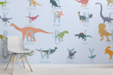 wallpaper to add color to a kids room