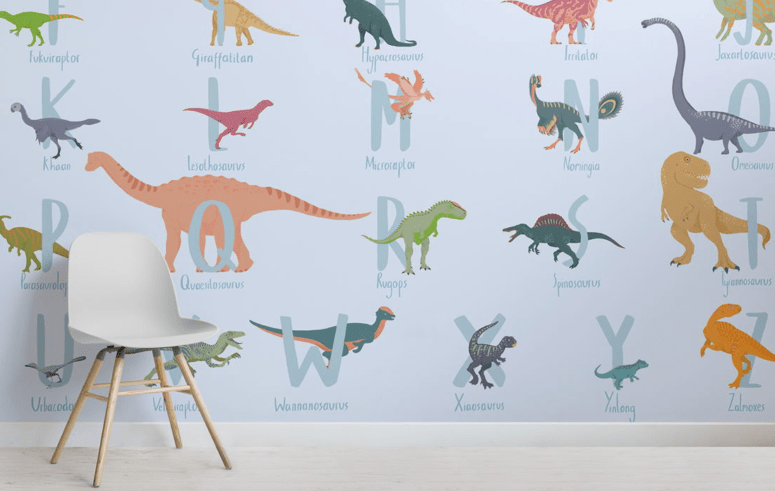Dino Educational Wall Murals For Kids' Rooms