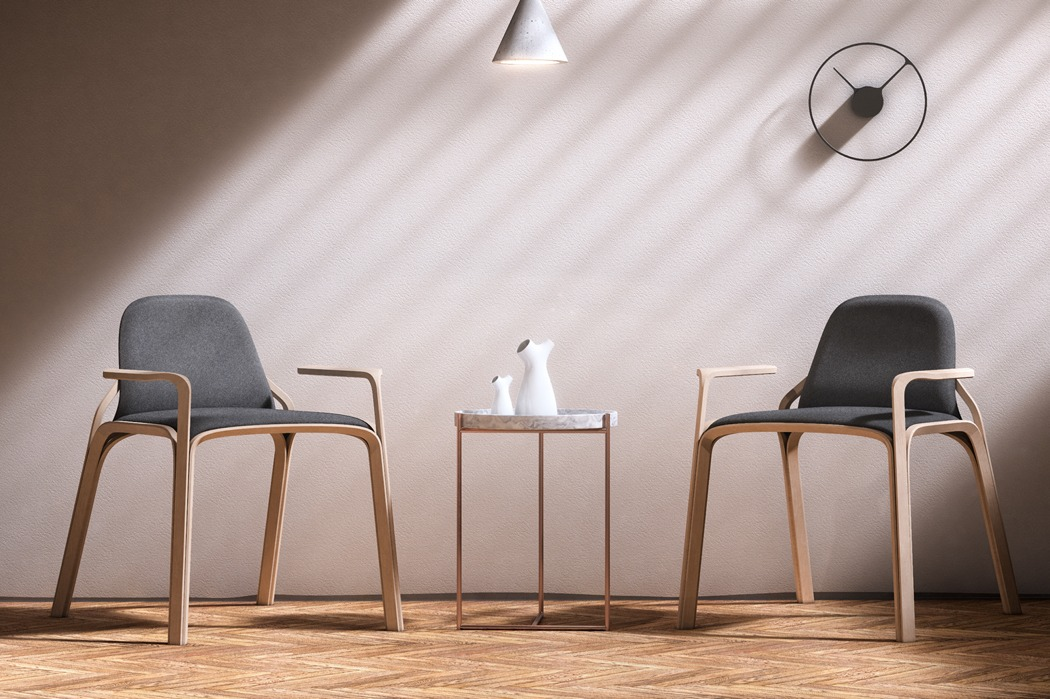 The unique and super comfortable chair shape is a result of more than of shapring and daydreaming