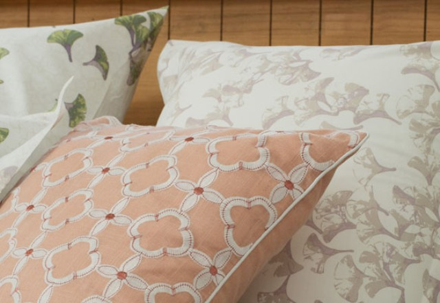 There are fall prints and muted shades like light orange, greens, greys, beige to make your bedroom relaxing