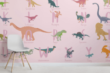 02 There are neutral, pink and blue wallpaper to fit different rooms