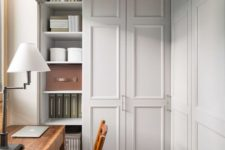 02 an old closet can be transformed into a new home office and you may use all that storage space of the closet
