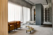 03 Timber, concrete and cement are used for decorating to embrace the nature around and highlight the minimalist feel