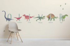 03 Watch your kids writing their names using dinosaurs' names