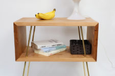 04 Thanks to the simplicity of the design and materials used this side table is great for many modern spaces