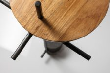 04 The smart use of materials and a cool design make the table ideal for a modern space