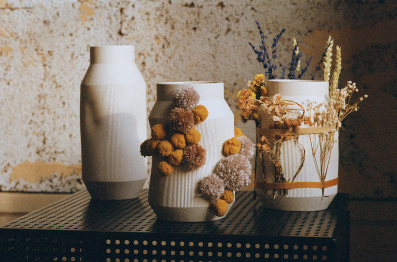 There are also vases in the collection, they are ombre, corrugated and eye catchy