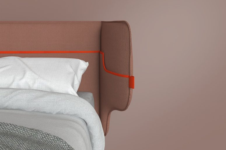 You won't need a nightstand with this bed - all the little stuff can be placed in the pockets