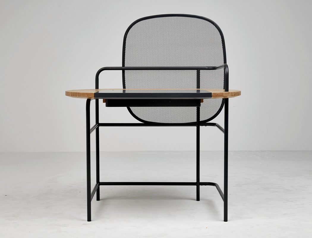 This desk shows off a cool shape and look that will make a statement in your workspace for sure