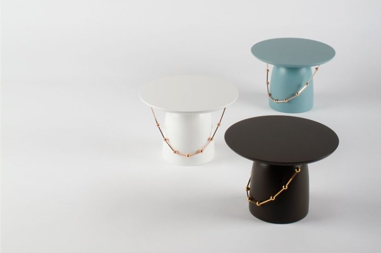 You may choose various colors and finishes of the side tables